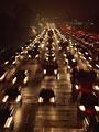 夜の渋滞の写真