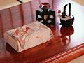屠蘇器と贈答品の写真