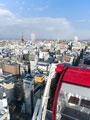 観覧車からの札幌市街の写真