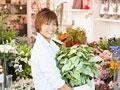 花屋の店員の写真