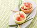 グレープフルーツのデザートの写真