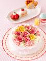 フラワーケーキの写真