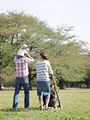 公園の親子の写真