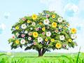 一木と花の写真