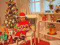 クリスマス飾りを持つ女の子の写真