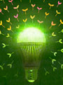 LED電球のエコロジーイメージの写真
