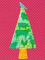 動物のシルエットのクリスマスツリーの写真