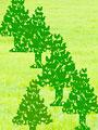 動物のシルエットの森林イメージの写真