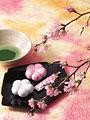 抹茶と和菓子の写真