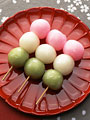 三色だんごの写真