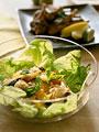 クスクスと焼き野菜のサラダの写真