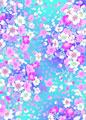 カラフル桜の写真