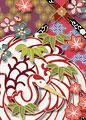 鶴紋に格天井の写真