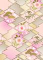 松皮菱に松竹梅の写真